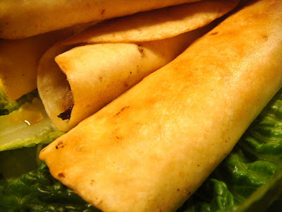 Shredded beef and cheese flautas