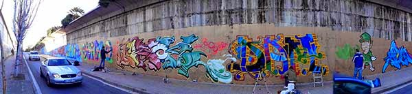 Graffitis en las calles de Terrassa