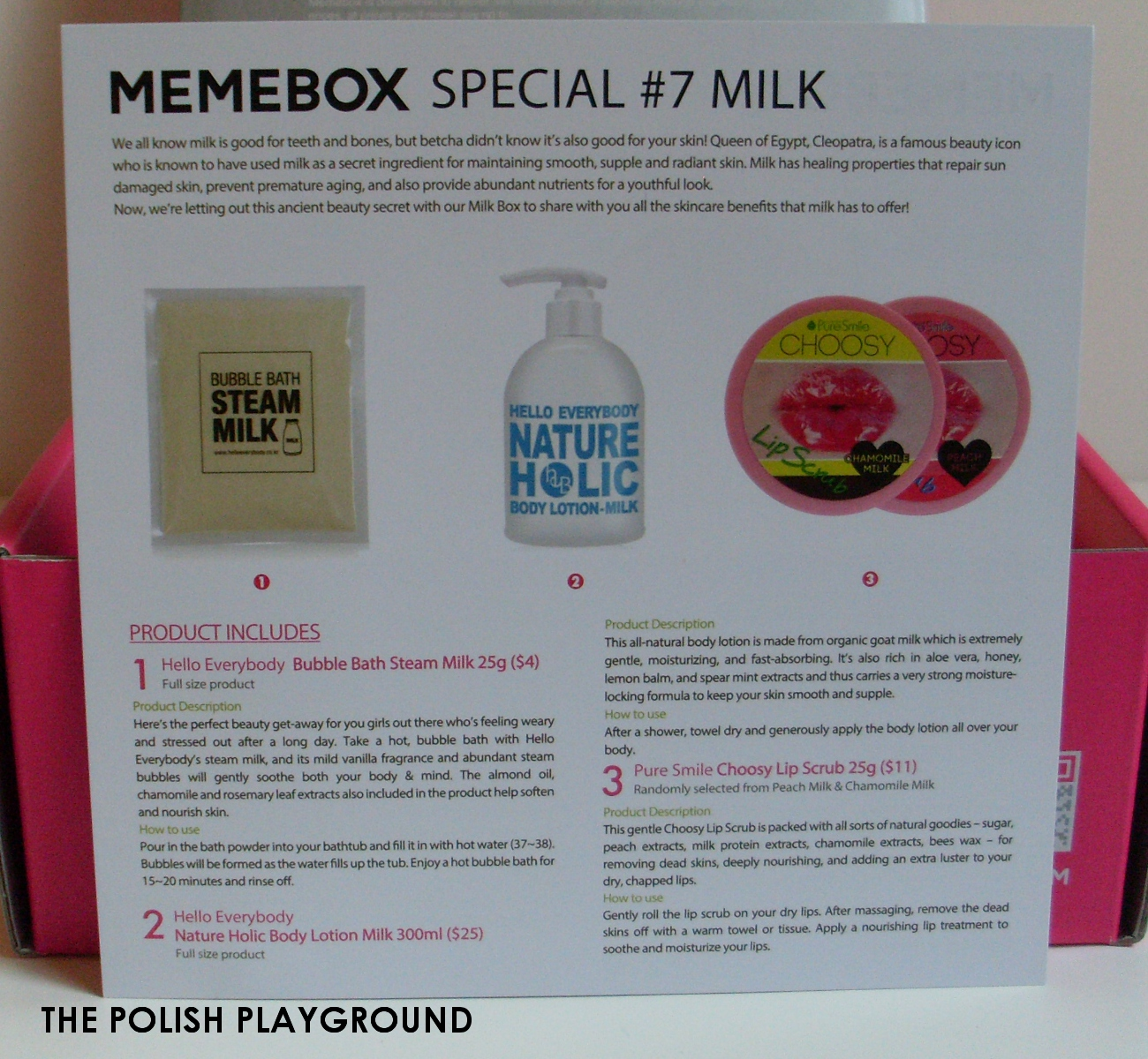 Memebox Special #7 Milk Unboxing