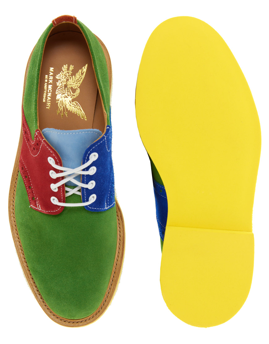 the x colored sole statement shoes for