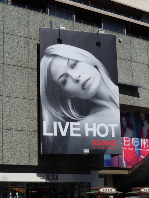 GNC Live Hot billboard