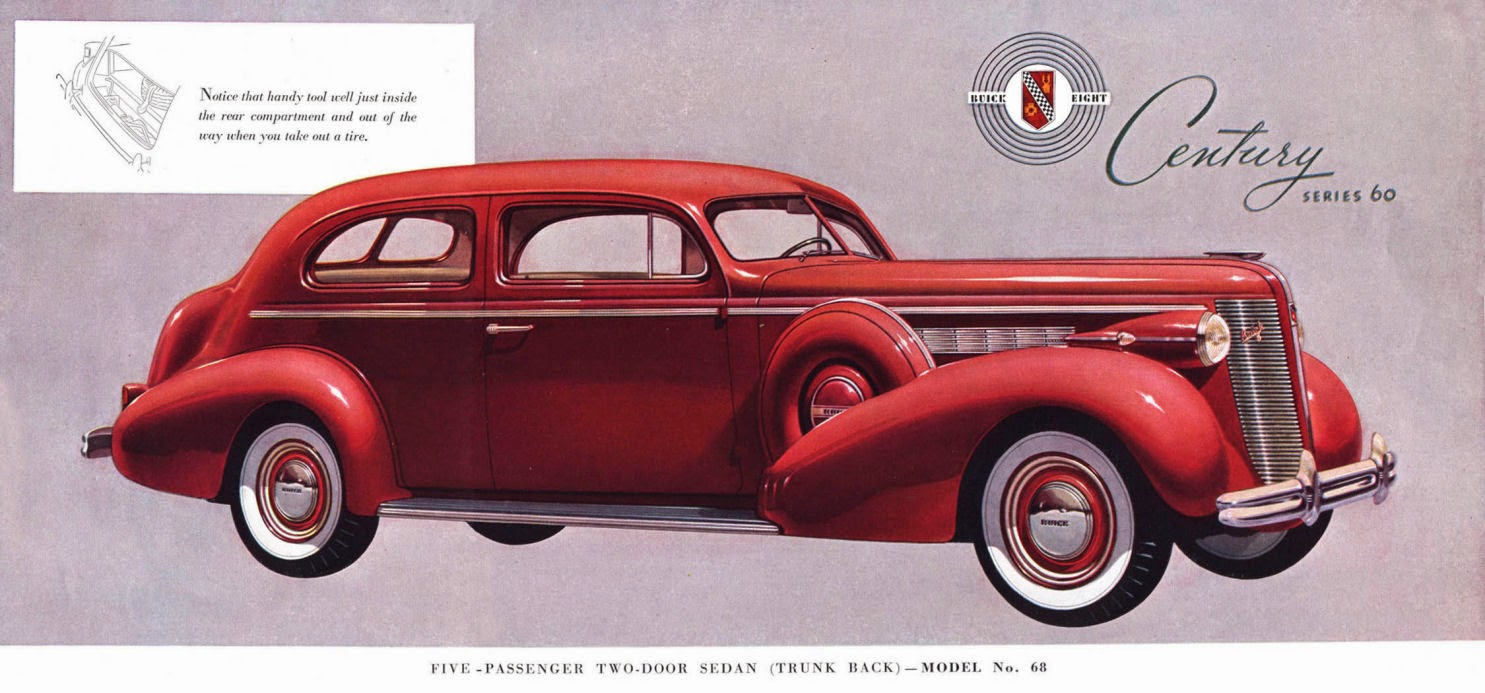 Car style critic counteracting turret top visual bloat for 1937 buick special 2 door
