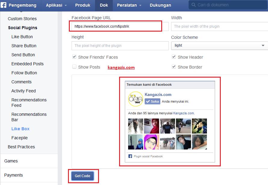 Cara Memasang Fans Page Facebook Di Blog