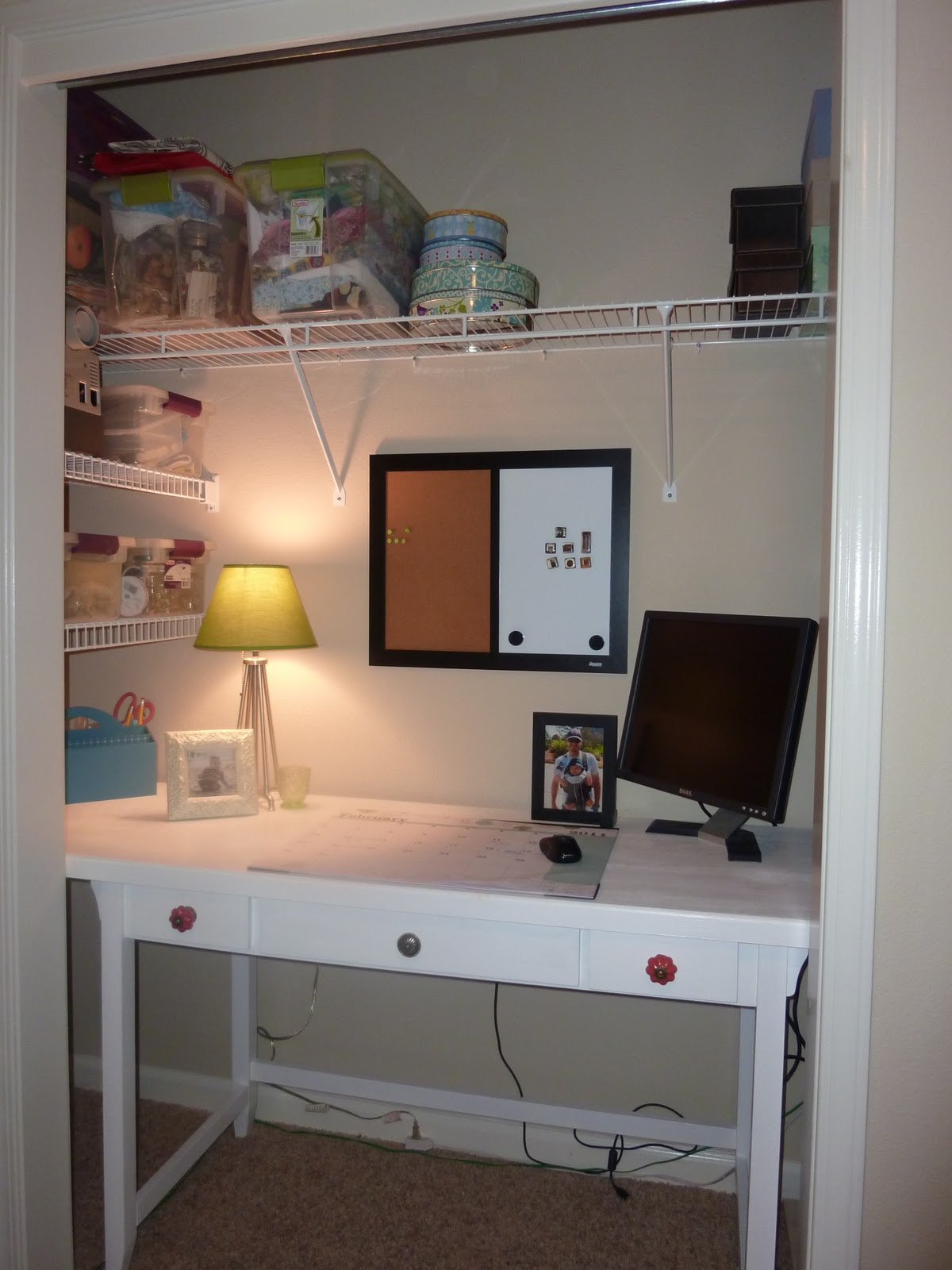 More than rubies closet office re model - Diy closets for small spaces model ...