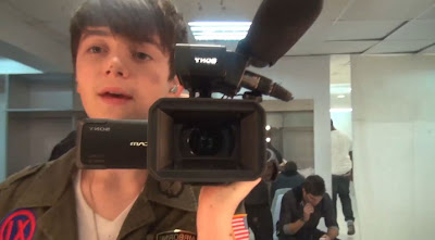 Greyson Chance backstage before his show in the Philippines Concert Video