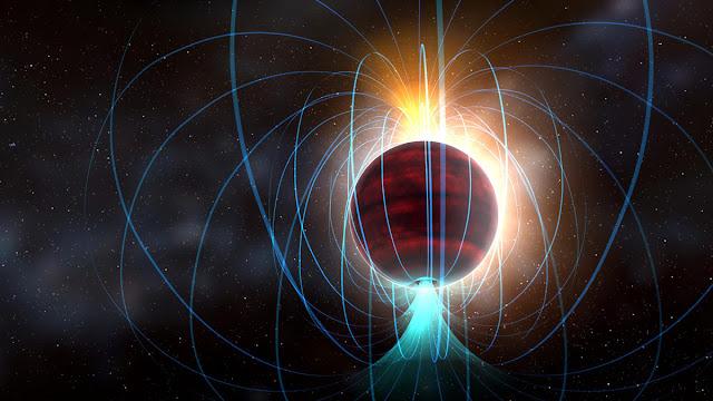 Enana roja con campo magnético