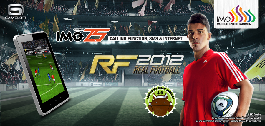 Real Football 2012 android imo z5