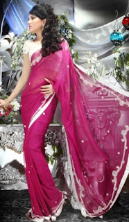 Pink-Silver-Stylish-Indian-Saree