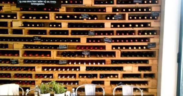 Ideas de botelleros hechos con palets - Weinregal palette ...