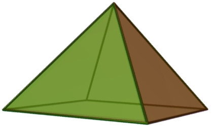How to calculate the volume of a pyramid