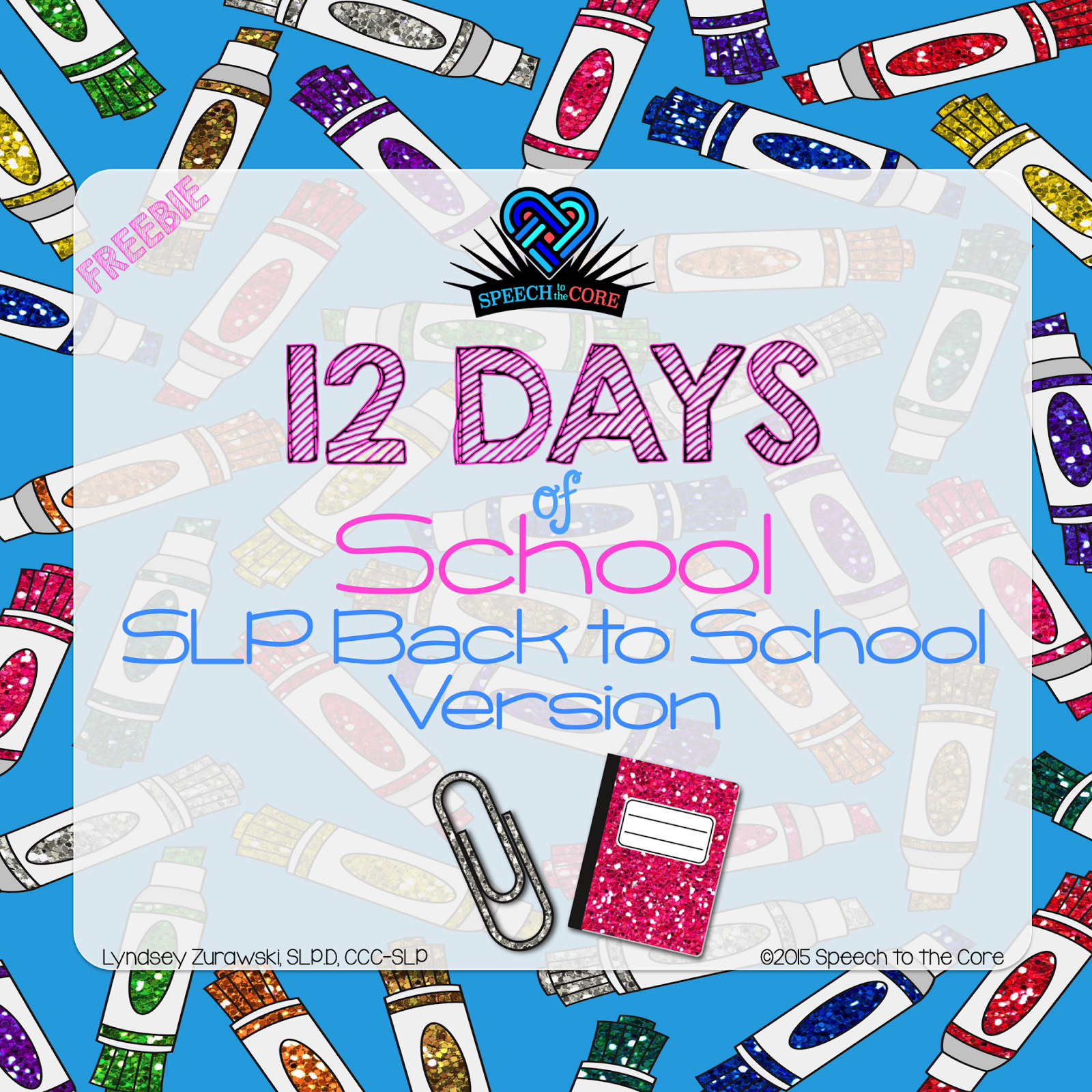 off this fun little parody of the 12 days of christmas with a school based slp spin on it for back to school its in my tpt shop as a free download
