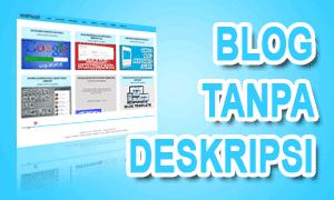 Apa Yang Terjadi Jika Blog Tanpa Deskripsi?