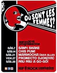 Où Sont les Femmes? programación marzo2015