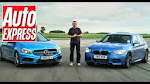 BMW M135 in Mercedes A45 AMG