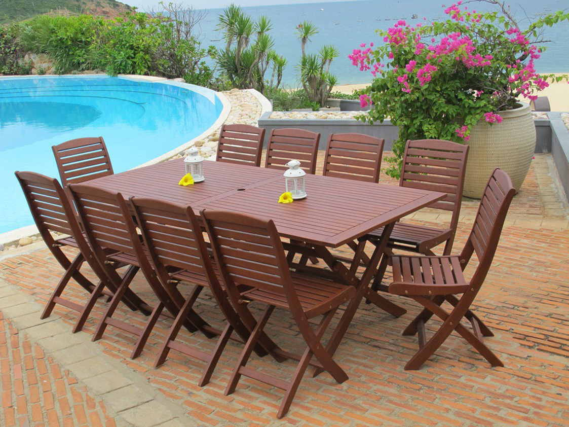 Outdoor wood furniture for Wooden garden furniture
