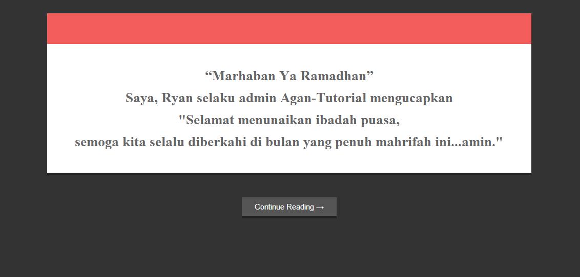pesan pembuka saat masuk blog