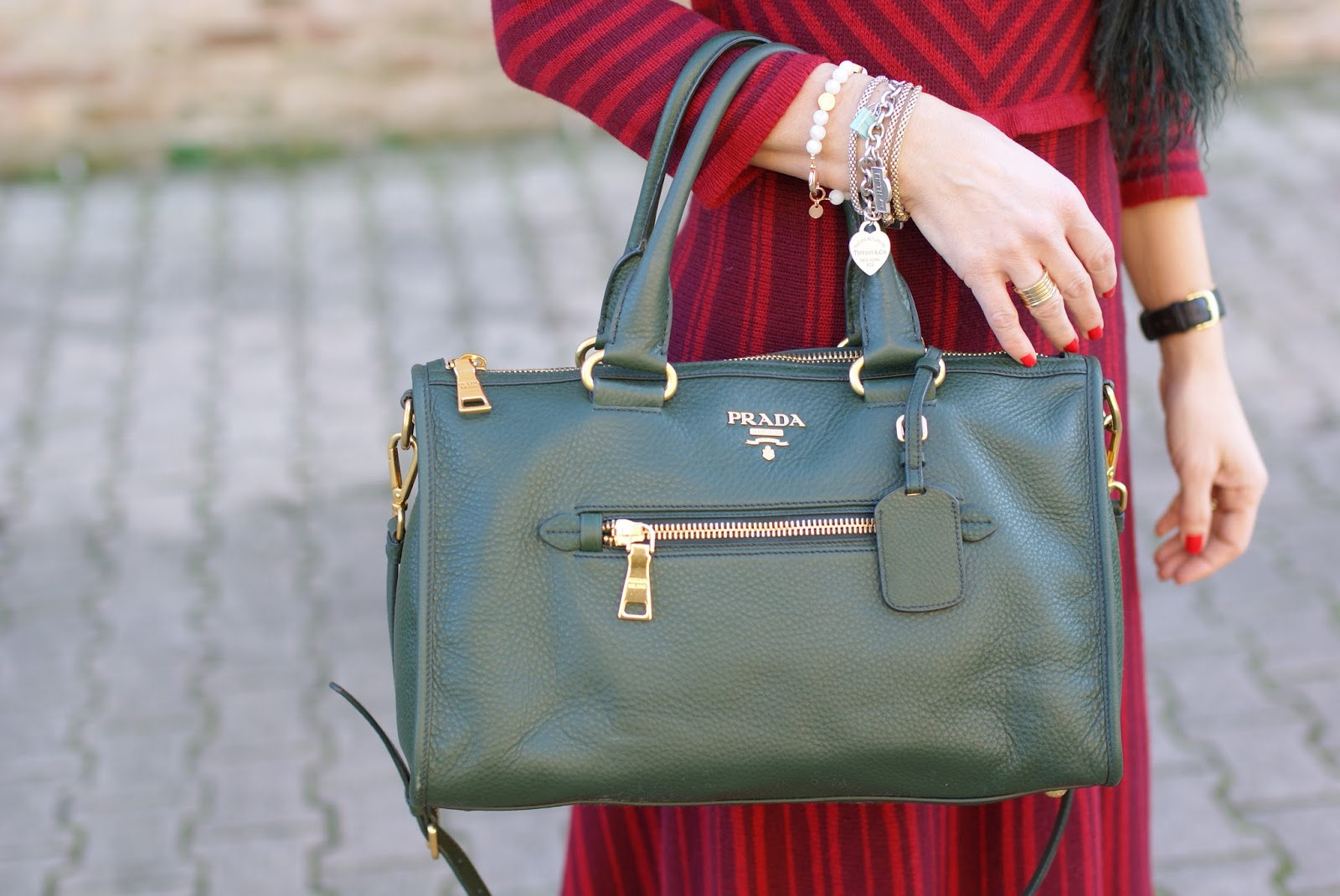 Prada boston bag on Fashion and Cookies fashion blog, fashion blogger style