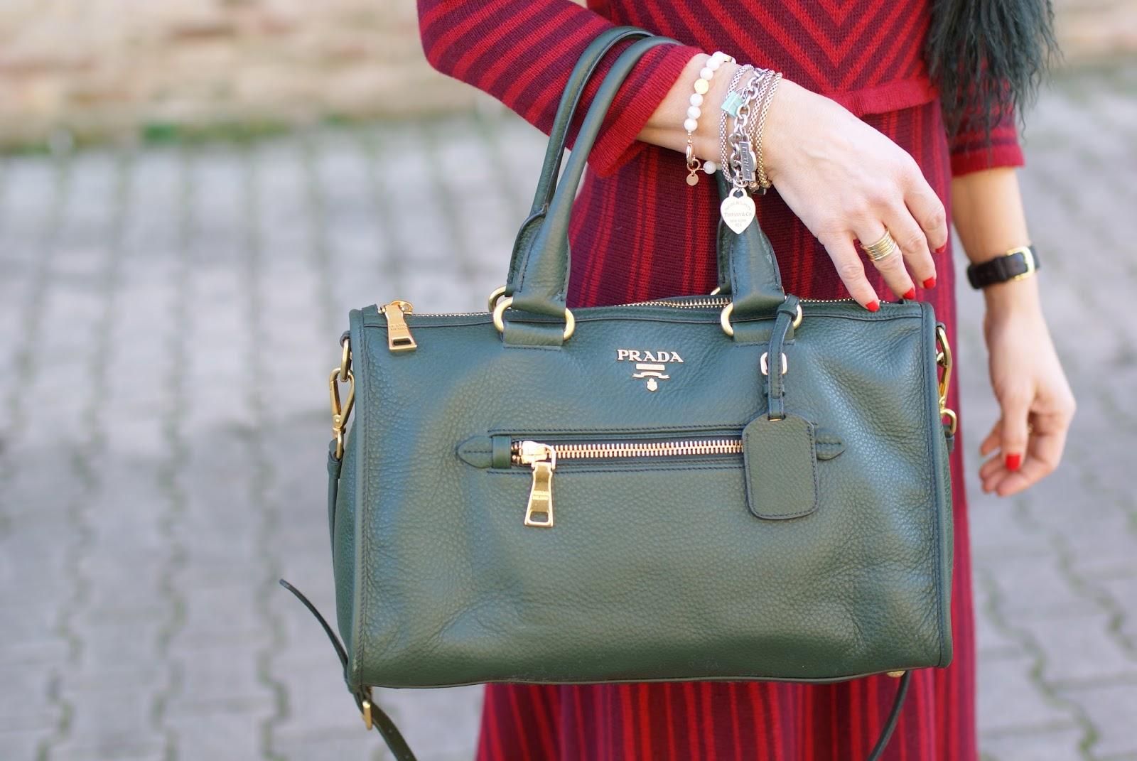 Prada boston bag on Fashion and Cookies fashion blog, fashion blogger style
