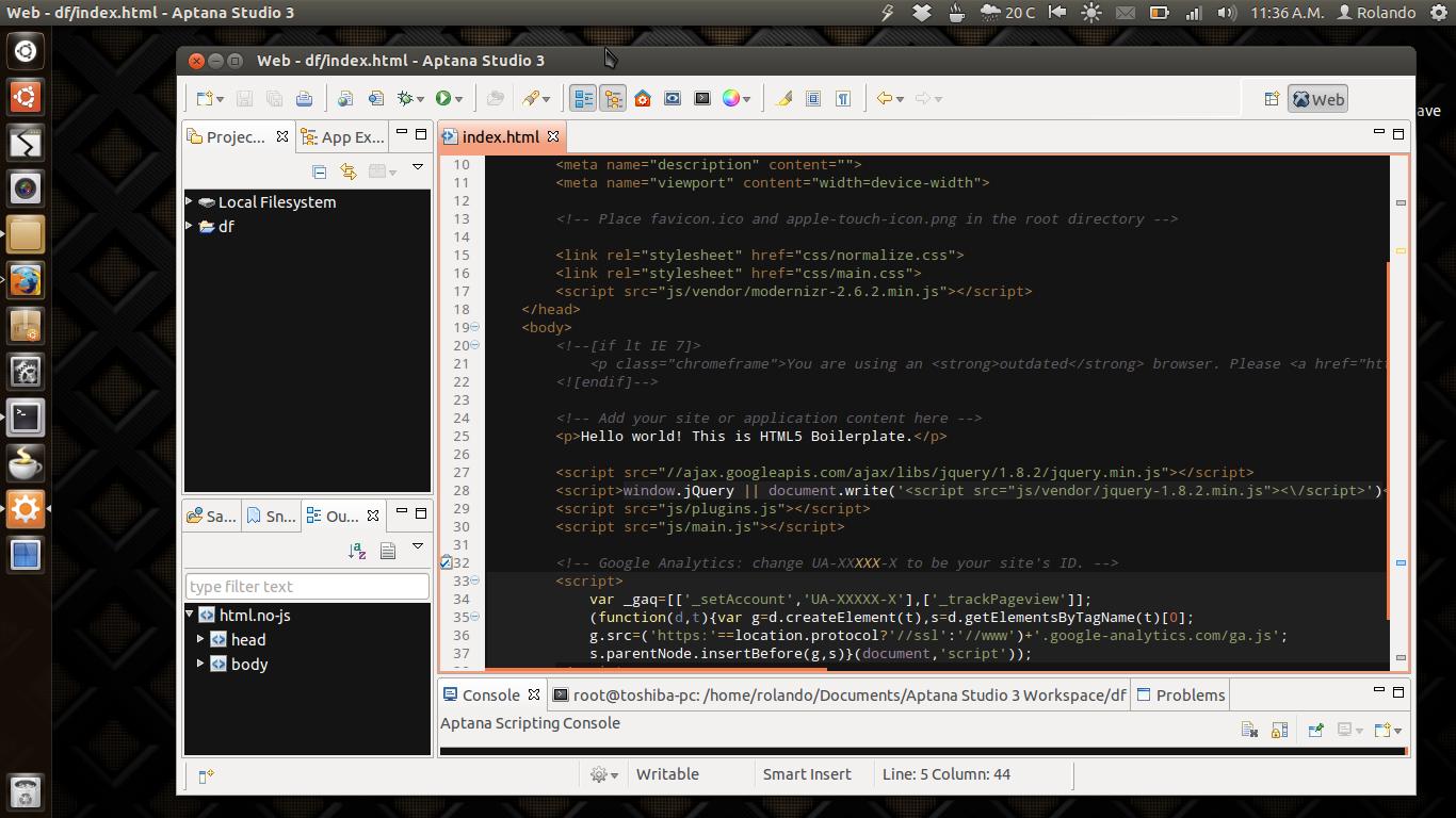 Una Web Libre Crea Tu Web Con Aptana Studio 3