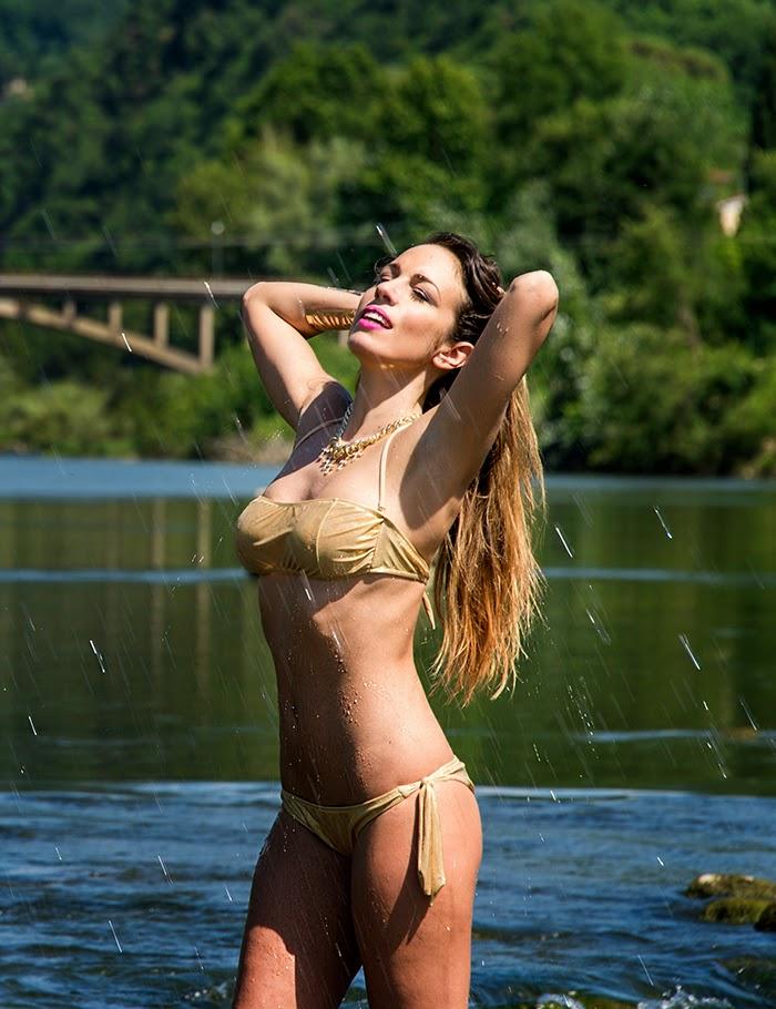 bikini metallizzato