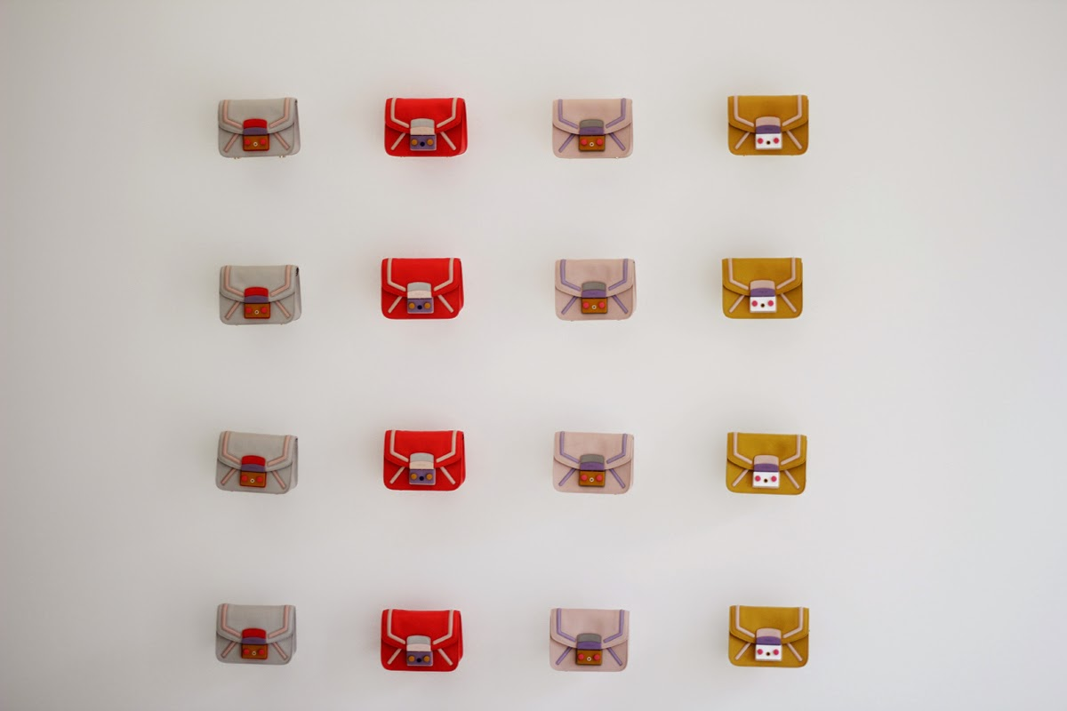 furla candybag clutch milan showroom presentation