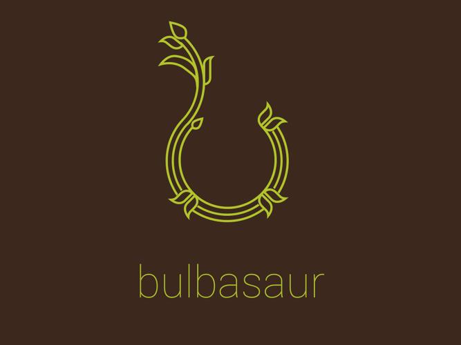 Logo basado en el personaje Pokémon Bulbasaur