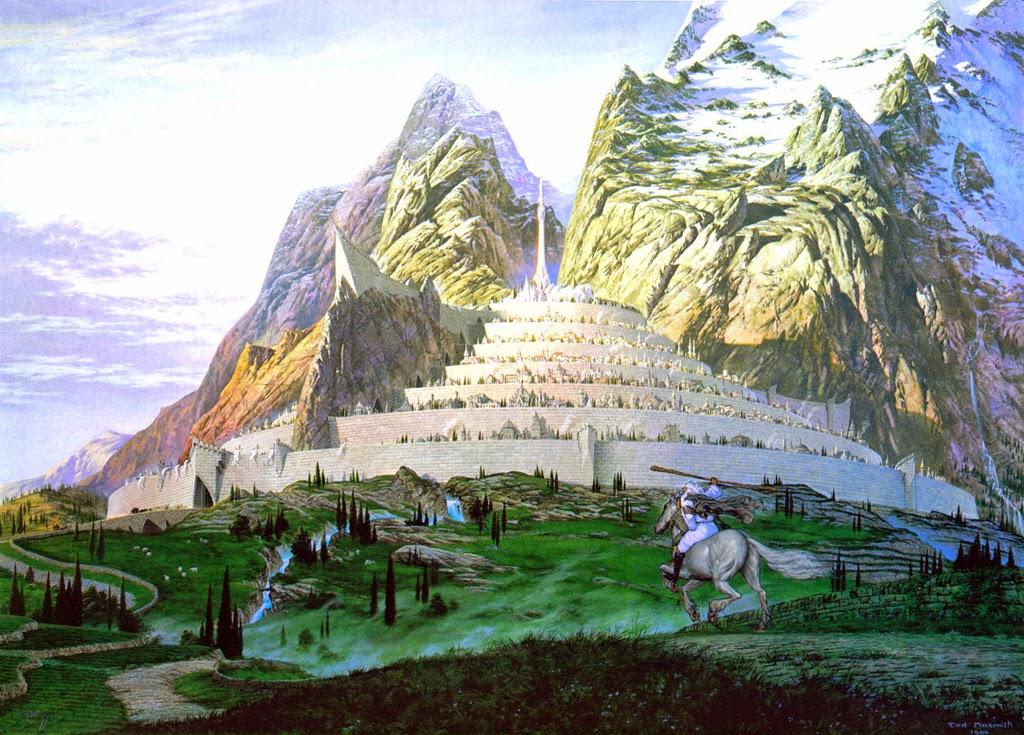 Gandalf rumbo a Minas Tirith – Imagen de Ted Nasmith