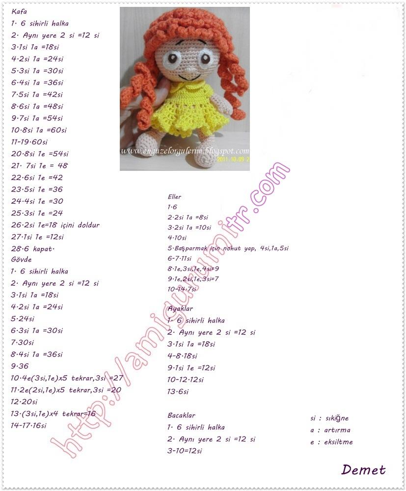 Amigurumi Bebek Tarifi : Amigurumi marul sa�l bebek yap l tarifi tiny mini design