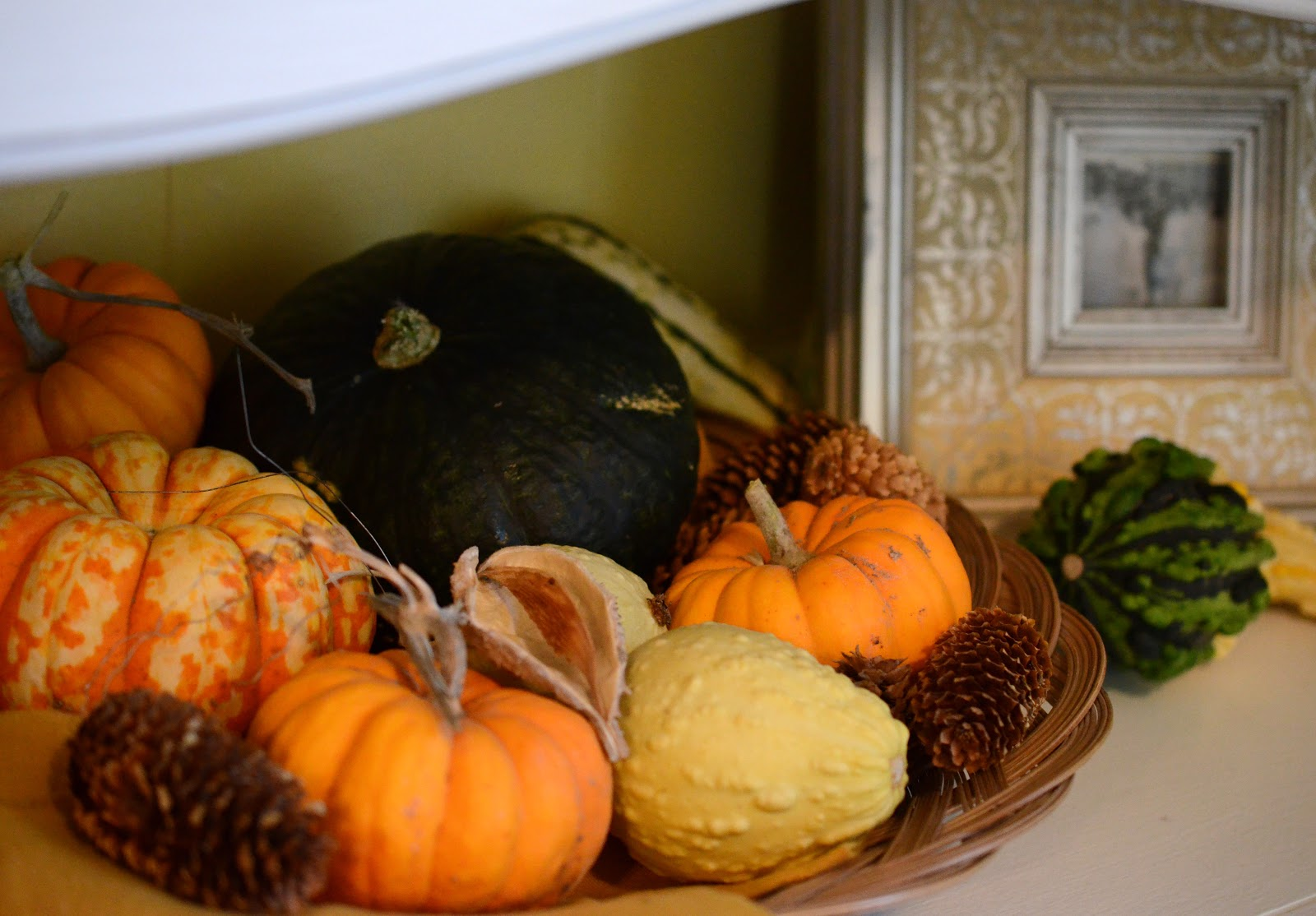 Natural fall decorations bless this mess