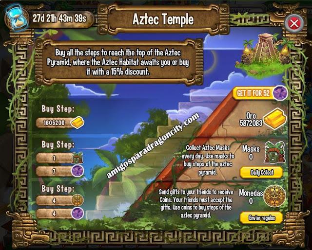 imagen de las tareas y objetos magicos del primer juego de la isla azteca de dragon