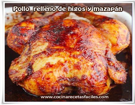 Recetas de pollo, pollo  relleno de higos y mazapán