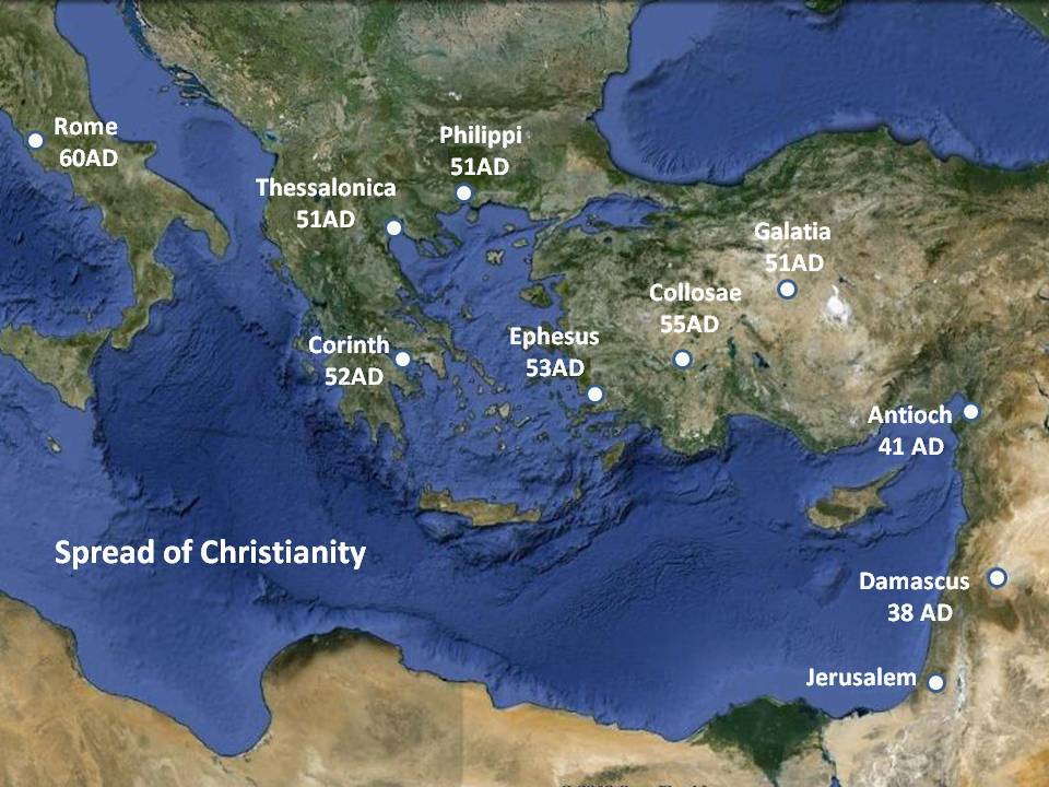 "thessalonica one reason for the growth and spread of christianity The rise of christianity christianity was the first ancient religion to become recognized as the one officially it soon spread among ""gentiles,"" thanks."