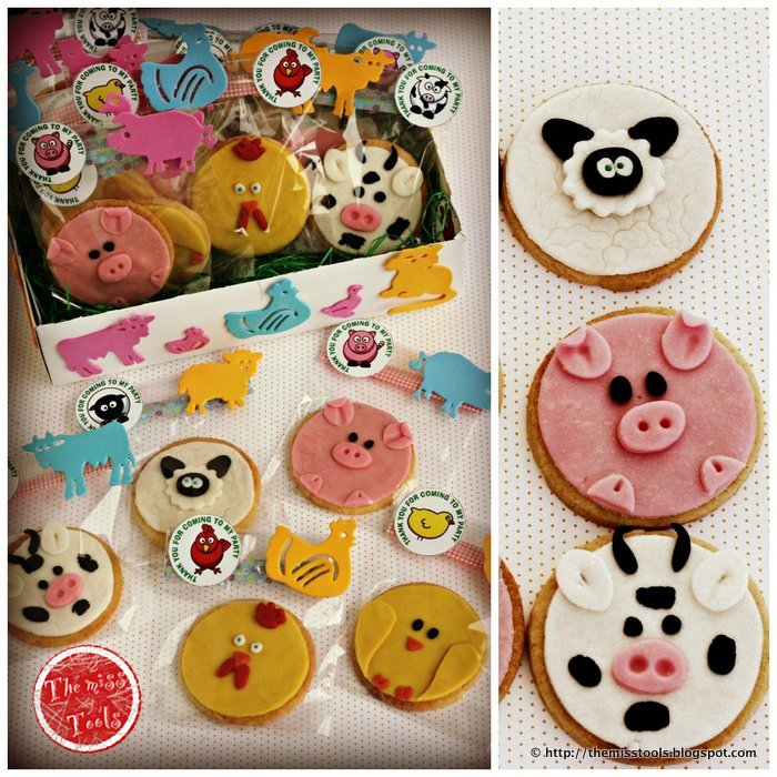 the miss tools idee per festa fattoria biscotti animali