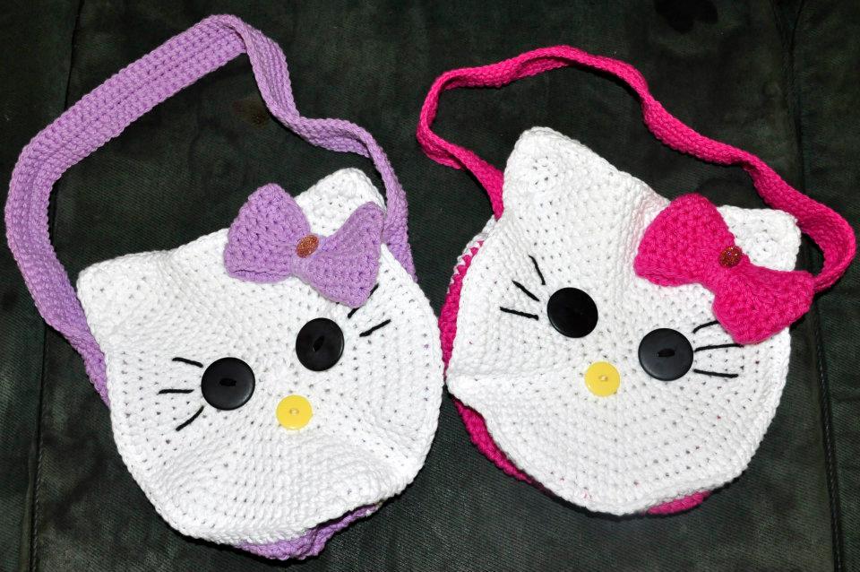 hello+kitty+%C3%A7anta Hello Kitty Örgü Çanta Yapımı