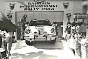 Joe Moussa starting the 1983 Bahrain International Rally (img )