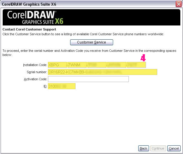 Prompt activation code and serial number for CorelDRAW x6