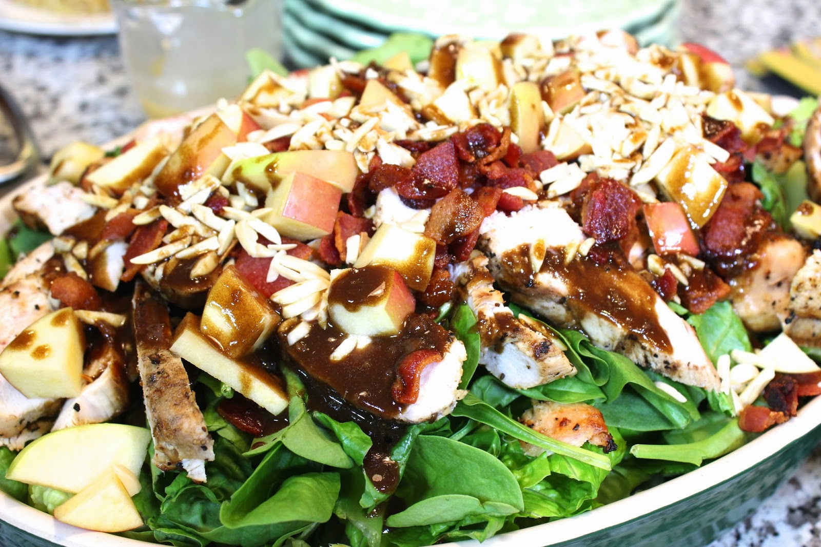 Apple, Bacon & Grilled Chicken Salad with Balsamic Vinaigrette