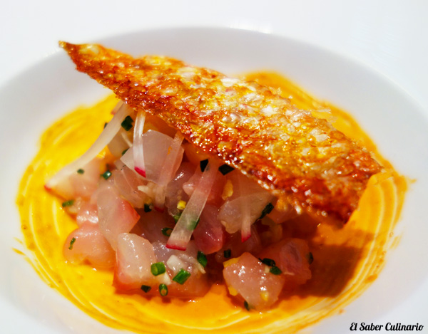 tartar de salmonete por Macarena de Castro