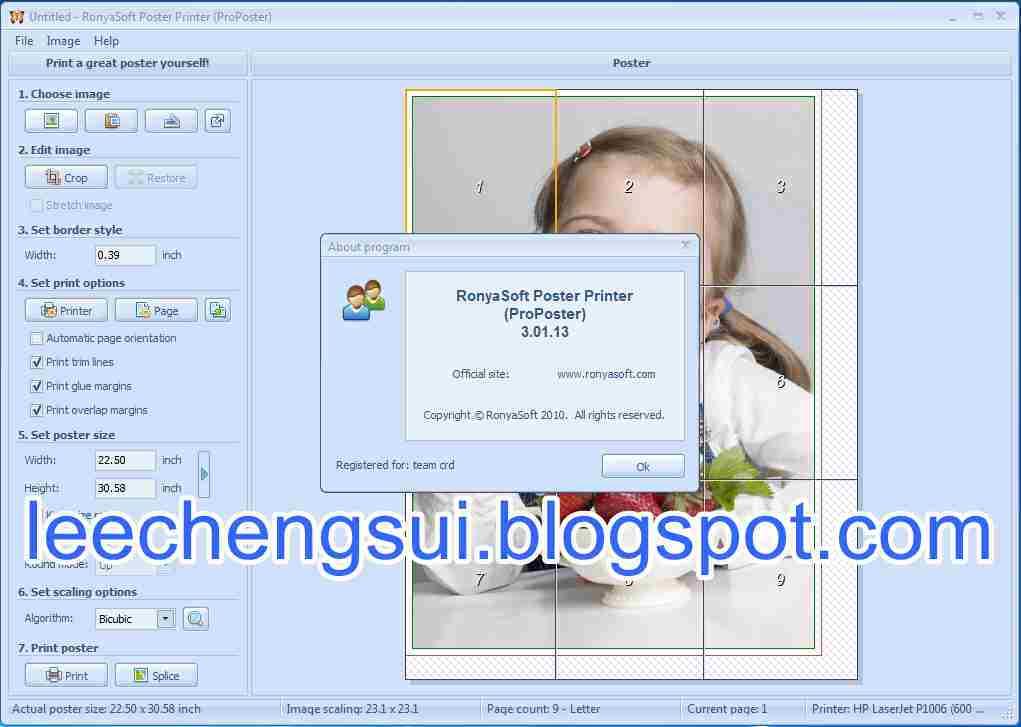Ronyasoft poster printer 3.01.29 portablemalestom