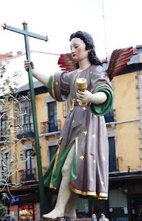 Ángel del paso La Oración del Huerto de Villademor de la Vega. Procesión Rosario de Pasión. León. Foto G. Márquez.