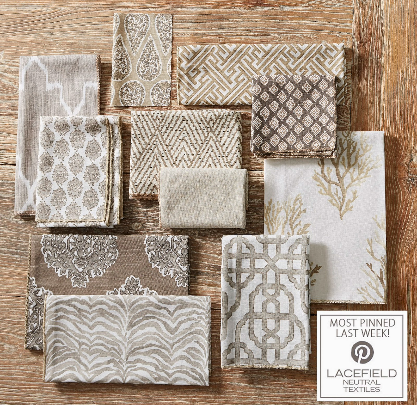 Inspired design textile tuesday lacefield neutral textiles for Replica design