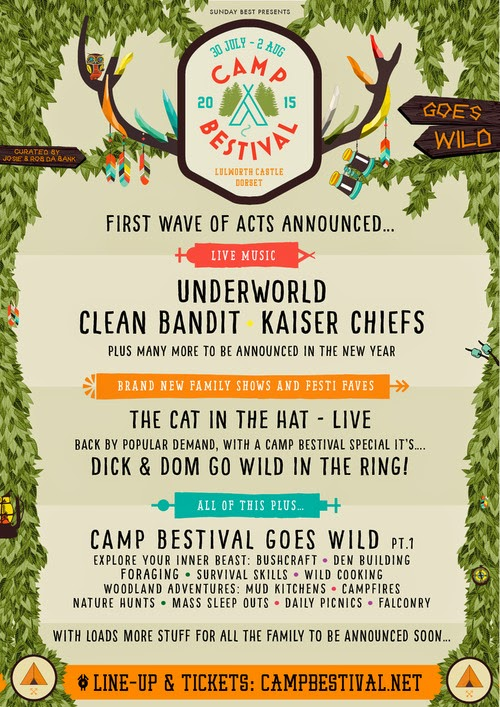 Clean Bandit,Kaiser Chiefs and Underworld headline Camp Bestival 2015