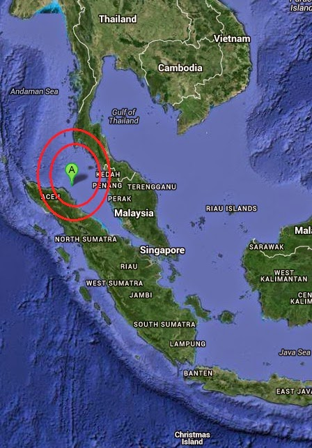 Magnitude 4.8 Earthquake of Langsa, Indonesia 2014-10-27