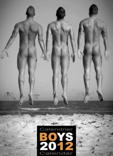 From left to right: Paul-Emile (Paolo), Anthony and John • 'BOYS 2012' Calendar by Lionel André