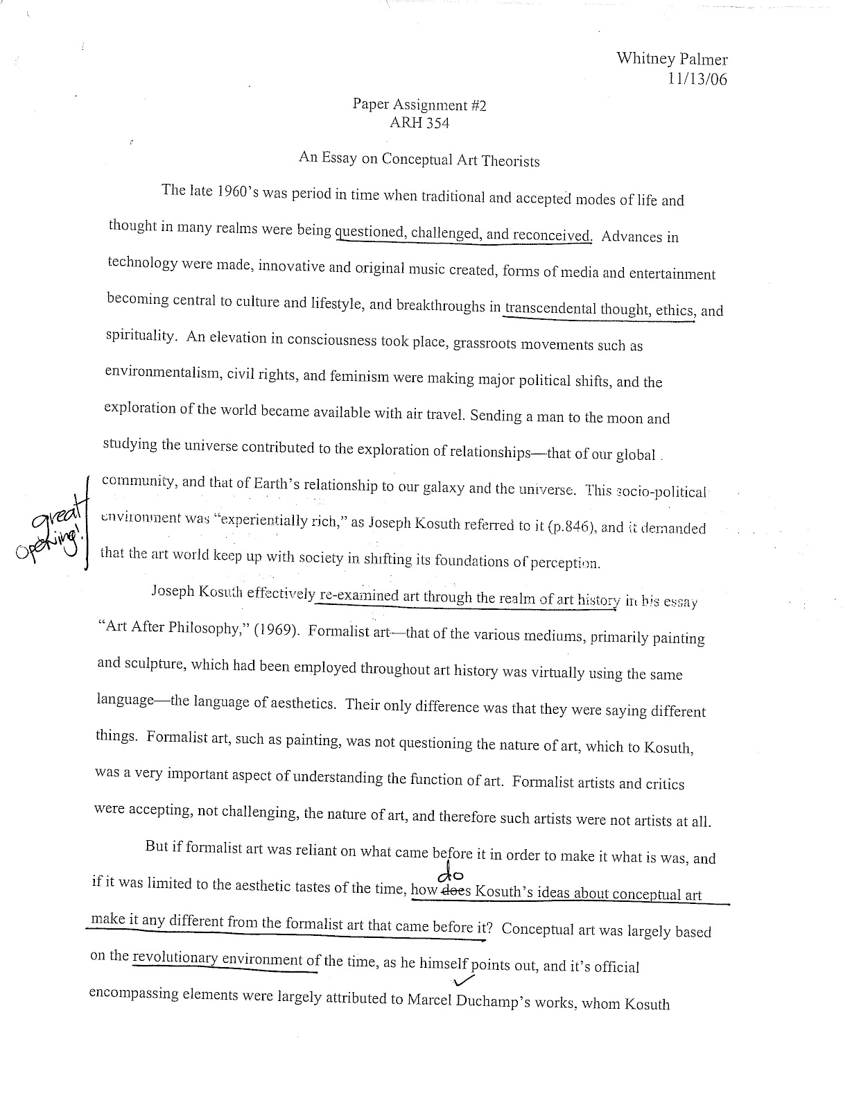 art assignment essay What this handout is about this handout discusses several common types of art history assignments, and talks about various strategies and resources that will help you write your art history papers.