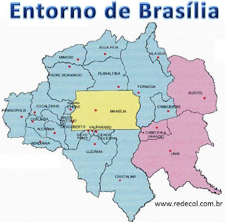 Mapa do Entorno de Brasília, RIDE/DF