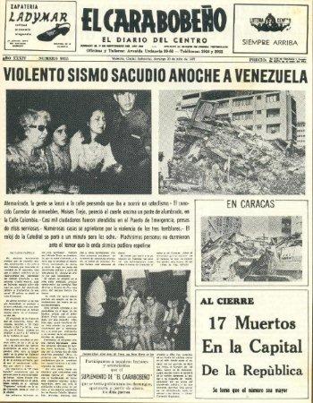 29 julio 1967 terremoto caracas:
