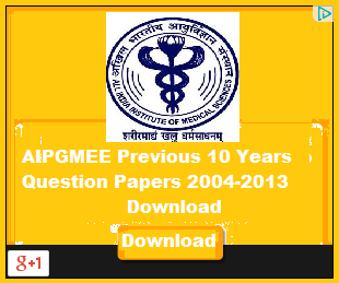 AIPGMEE Previous 10 Years Question Papers 2004-2013 Download