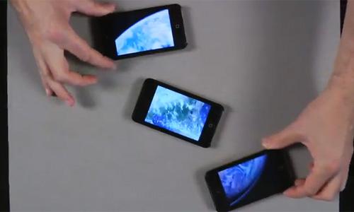 ilusionista+e+3+ipod+touchs