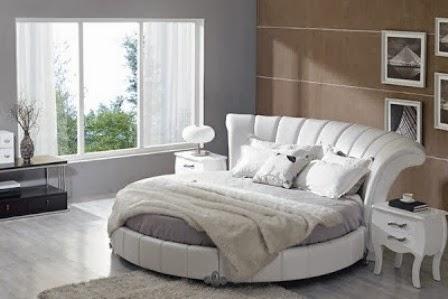 Desain Tempat Tidur Modern Model Lingkaran